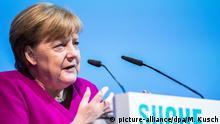 Deutschland, Münster: Angela Merkel hält eine Rede beim Katholikentag