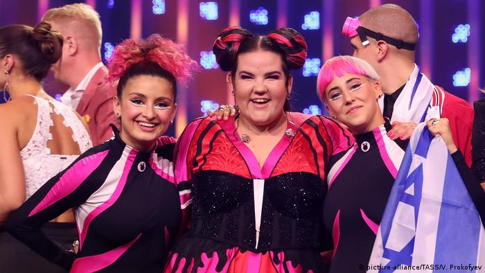 Netta and band at Eurovision 2018