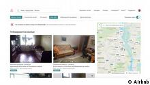 Screenshots von Booking.com und Airbnb. Diese machen deutlich, wie absurd inzwischen die Preise für Unterküfte in Kiew gestiegen sind, und zwar für Ende Mai, wenn in Kiew das Endspiel der UEFA Champions League ausgetragen wird. Quelle: https://www.airbnb.ru/s/Киев--город-Киев--Украина/homes?refinement_paths%5B%5D=%2Fhomes&place_id=ChIJBUVa4U7P1EAR_kYBF9IxSXY&query=Киев%2C%20город%20Киев%2C%20Украина&allow_override%5B%5D=&checkin=2018-05-26&checkout=2018-05-27&price_min=50&price_max=291&s_tag=Z4u982p6