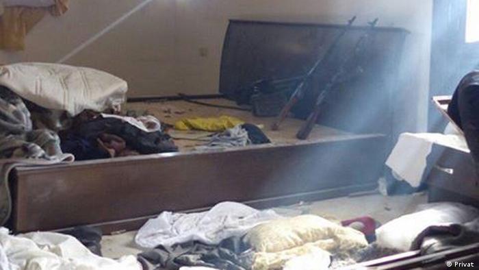 A fighter's hideout in Raqqa