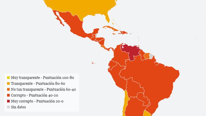 Infografik Indiz Wahrnehmung Korruption Amerika SPA