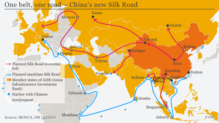 China's new Silk Road map