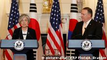 USA Kang Kyung-wha und Mike Pompeo Washington
