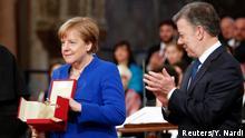 Italien Friedenslicht der Franziskaner in Assisi   Angela Merkel, Bundeskanzlerin