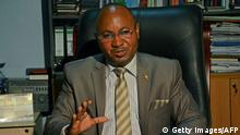 ARCHIV 2016 *** Alain-Guillaume Bunyoni, Burundian Minister of Security speaks as he sits at his desk in Bujumbura on April 12, 2016. A year after Burundi was plunged into chaos, peace efforts are deadlocked in the troubled central African country, with the opposition divided and power in the hands of hardliners. / AFP / cds / STRINGER (Photo credit should read STRINGER/AFP/Getty Images)