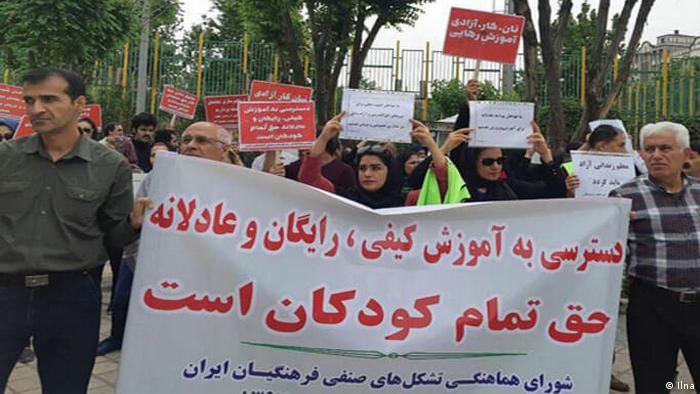 Proteste der Lehrer in Iran