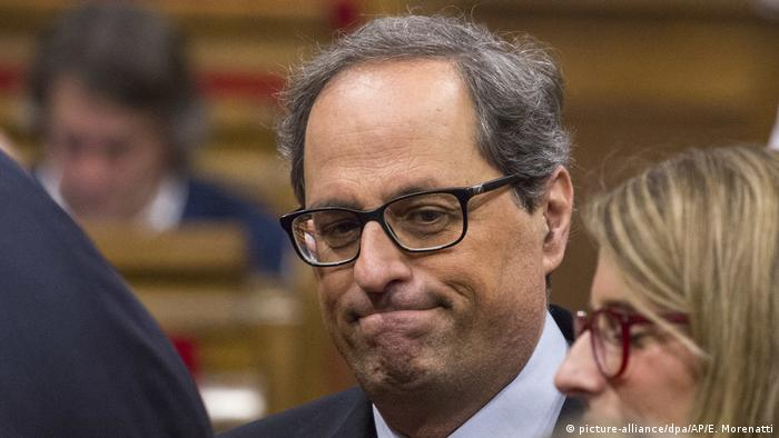 Spanien | Quim Torra, Regierungsbildung in Katalonien (picture-alliance/dpa/AP/E. Morenatti)
