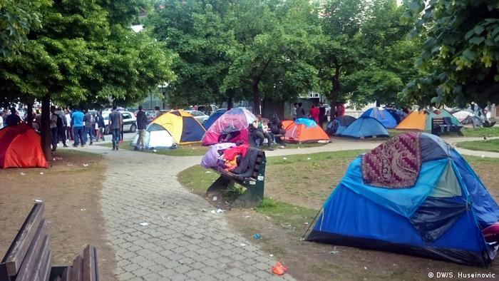 Bosnien Migrantenroute durch die Hauptstadt Sarajevo