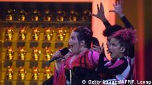 12.05.2018 ++++ Israel's singer Netta Barzilai aka Netta performs Toy during the final of the 63rd edition of the Eurovision Song Contest 2018 at the Altice Arena in Lisbon, on May 12, 2018. (Photo by Francisco LEONG / AFP) (Photo credit should read FRANCISCO LEONG/AFP/Getty Images)
