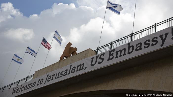 Israel US Botschaft in Jerusalem (picture-alliance/AP Photo/A. Schalit)