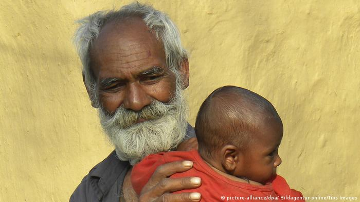 Indian father with son