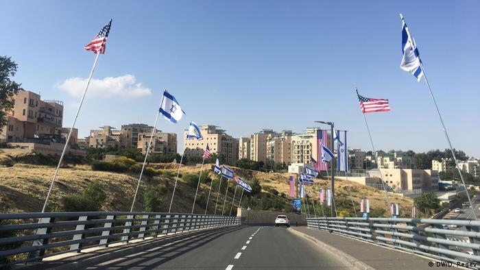 Jerusalem Straße zur neuen US- Botschaft