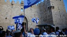 Jerusalem Damascus Gate Jerusalem Day Feier