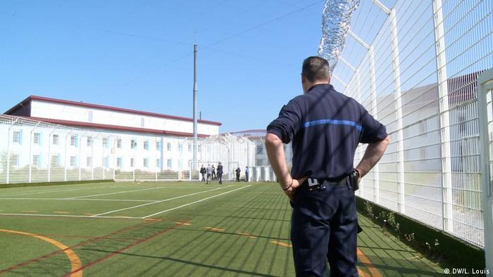 A guard at the Vendin-le-Vieil prison in France