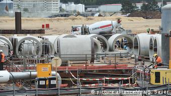 Строительство немецкого участка газопровода Северный поток -2