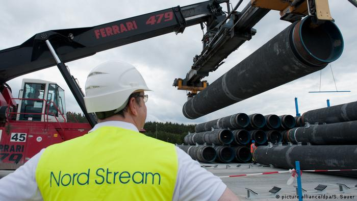Nord-Stream 2-Baustelle in Lubmin (19.06.2012) (picture alliance/dpa/S. Sauer)