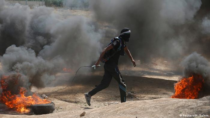 Proteste im Gazastreifen an der Grenze zu Israel