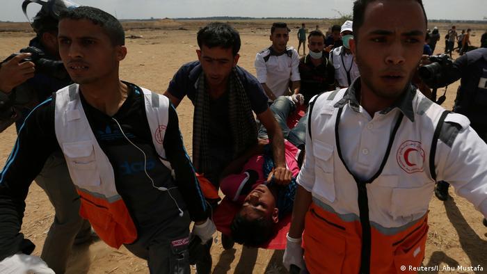 Proteste im Gazastreifen an der Grenze zu Israel (Reuters/I. Abu Mustafa)