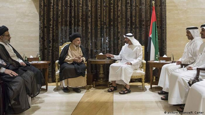 Al-Sadr meet with Abu Dhabi Crown Prince Mohammed bin Zayed al-Nahyan
