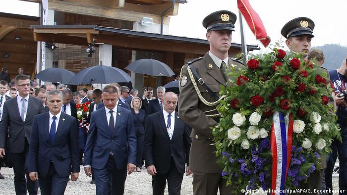 Gedenkveranstaltung kroatischer Nazi-Einheiten in Österreich