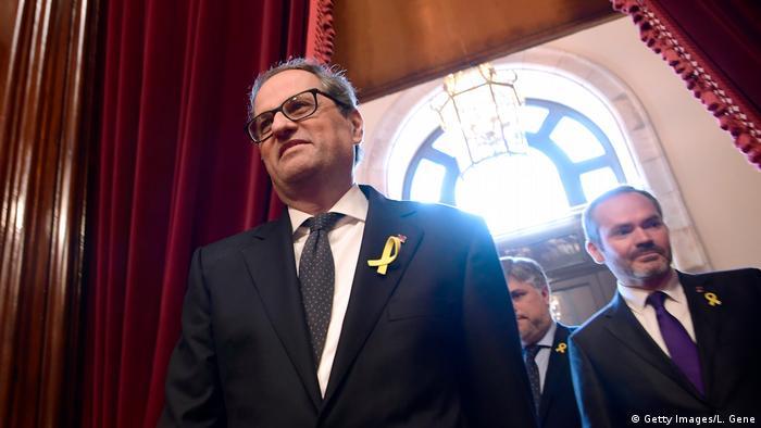 Spanien, Barcelona: Quim Torra bei einer Wahlveranstalung des katalanischen Parlaments (Getty Images/L. Gene)