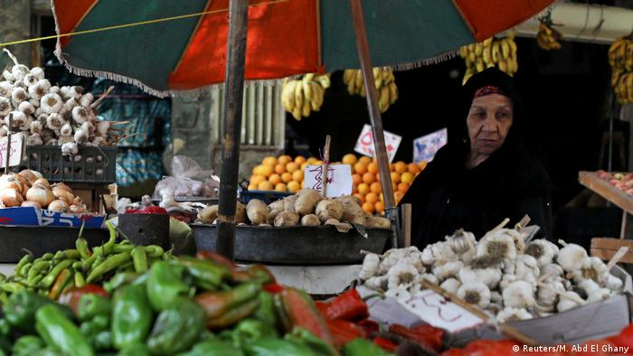 Products are displayed at a vegetable market in Cairo, Egypt, May 13, 2018