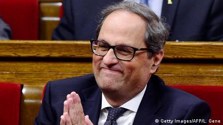 Новий каталонський лідер узяв в уряд ув'язнених політиків