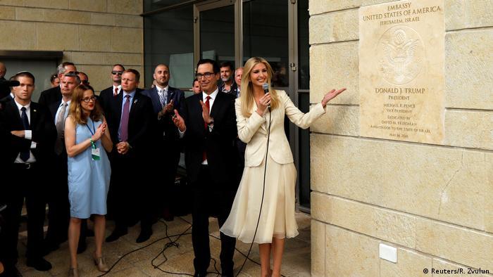 Ivanka Trump na controversa inauguração da embaixada em Jerusalém