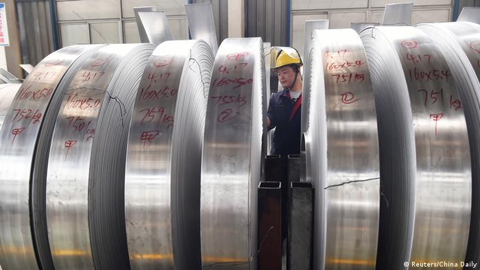 China Aluminiumrollen in Zouping (Reuters/China Daily)