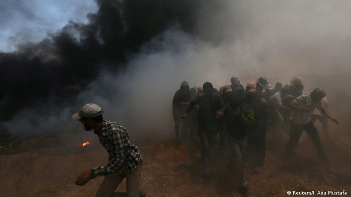 Israel Protesten in Gaza (Reuters/I. Abu Mustafa )