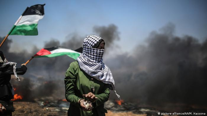 Israel Protesten in Gaza (picture-alliance/AA/M. Hassona)