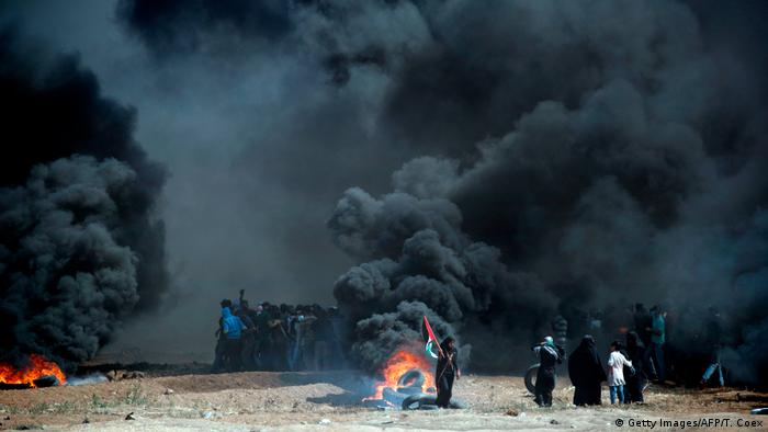 Israel Protesten in Gaza (Getty Images/AFP/T. Coex)