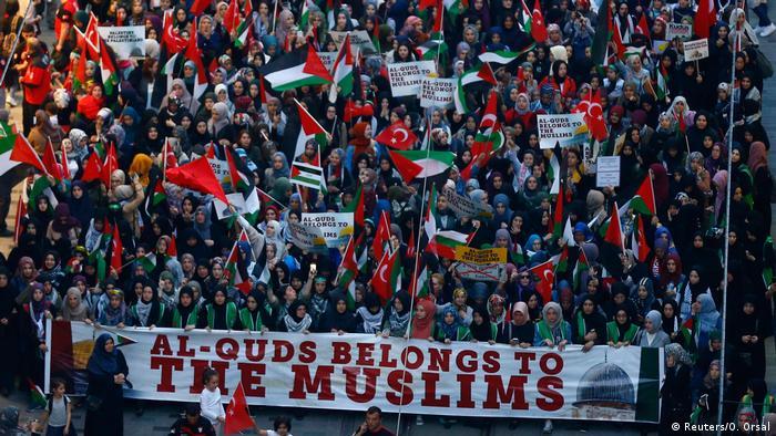 Türkei Protesten gegen Eröffnung der US-Botschaft in Jerusalem