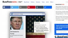Screenshot BuzzFeed - Trump und Facebook