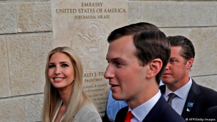 Jared Kushner mit Trumps Tochter Ivanka bei der Eröffnung der US-Botschaft in Jerusalem