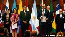 Mexican Foreign Minister Luis Videgaray addresses the media during a meeting of the Lima Group, formed last year to put pressure on Venezuela and whose member countries are monitoring the upcoming Venezuelan presidential elections, in Mexico City, Mexico May 14, 2018. REUTERS/Edgard Garrido