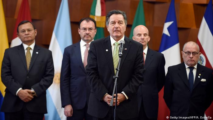 Mexiko Treffen Gruppe von Lima, Grupo de Lima (Getty Images/AFP/A. Estrella)