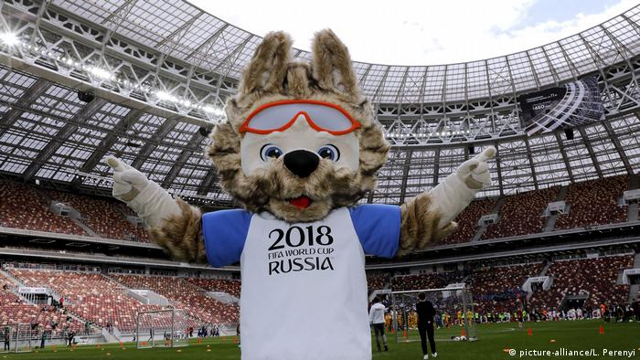 Russia World Cup WM 2018 mascot (picture-alliance/L. Perenyi)