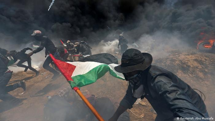 تظاهرات فلسطینیان در ناحیه مرزی اسرائیل