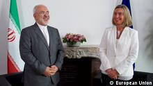 Europäischer Rat in Brüssel   Mohammed Dschawad Sarif, Außenminister Iran & Federica Mogherini