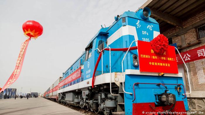 China Zug der China Railway Express fährt nach Iran (picture-alliance/dpa/Imaginechina/T. Zhe)