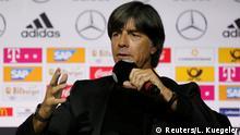Soccer Football - Germany - Joachim Loew Press Conference - German Football Museum, Dortmund, Germany - May 15, 2018 Germany coach Joachim Loew during the press conference REUTERS/Leon Kuegeler