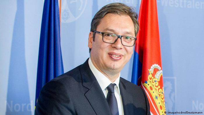 Deutschland - Aleksandar Vucic Staatspräsident Republik Serbien zu besuch in Düsseldorf