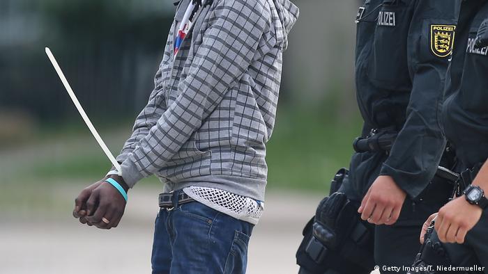 A refugee is arrested in Ellwangen
