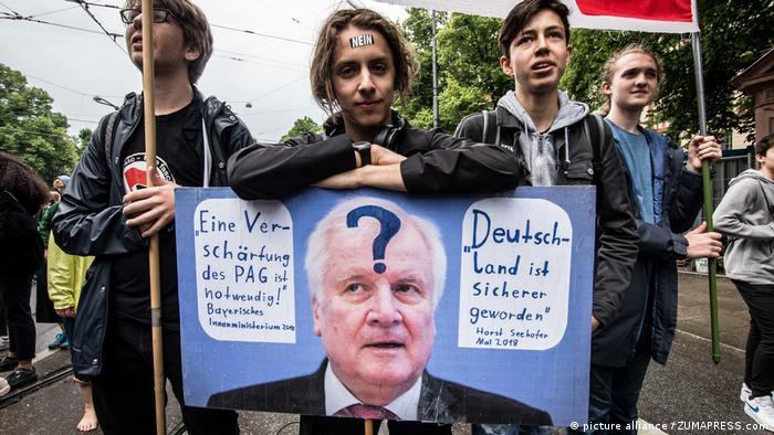 München: Protest gegen Polizeiaufgabengesetz (picture alliance / ZUMAPRESS.com)