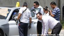 The car of Juan Carlos Huerta (picture-alliance/Zuma/L. Lopez )