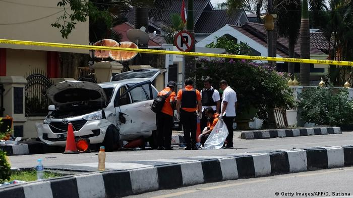 Attack on police headquarters in Indonesia