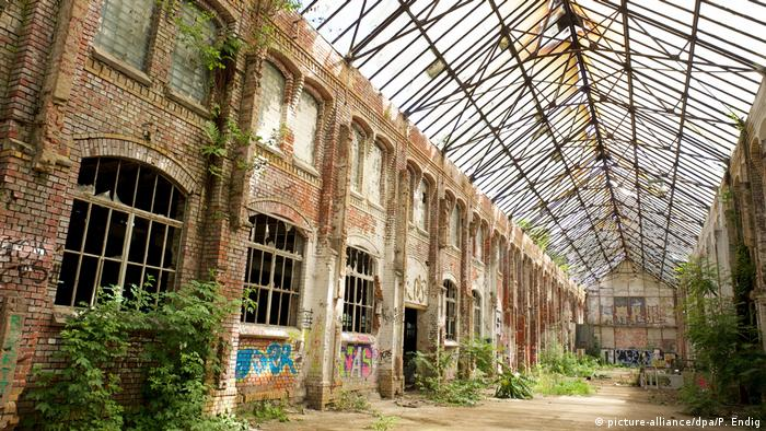An old disused factory building in Leipzig
