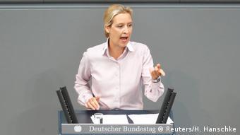 Η πρόεδρος της κοινοβουλευτικής ομάδας του ξενοφοβικού κόμματος AfD Άλις Βάιντελ
