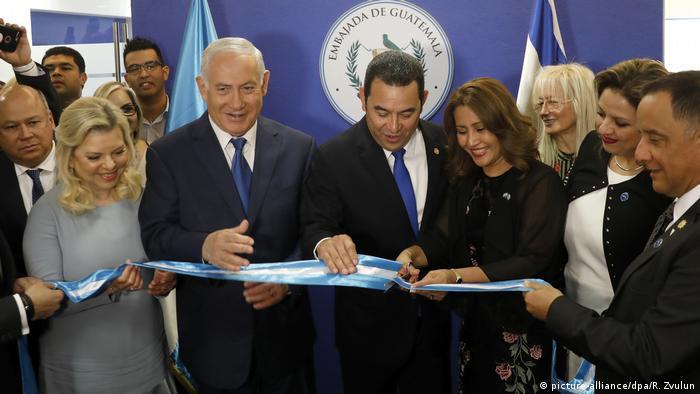 Guatemala eröffnet Botschaft in Jerusalem (picture-alliance/dpa/R. Zvulun)